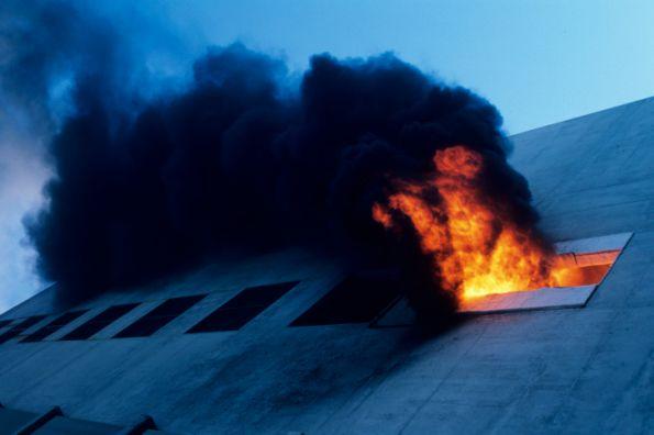 incendio en edificio